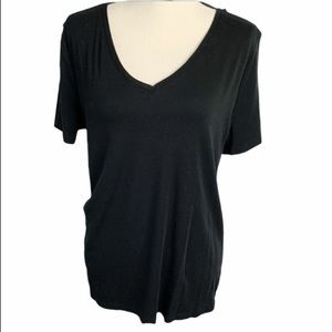 A new day black V-neck extra large top
